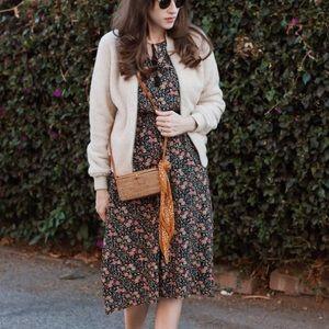 Floral Midi dress with Tassel